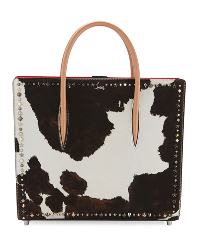 Paloma Large Calf Hair Mixed-Studs Tote Bag