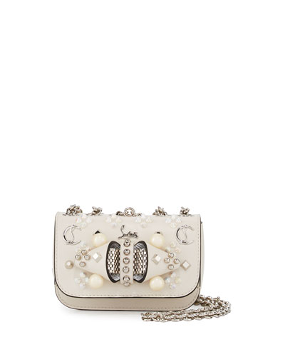 Sweet Charity Mixed-Stud Leather Crossbody Bag