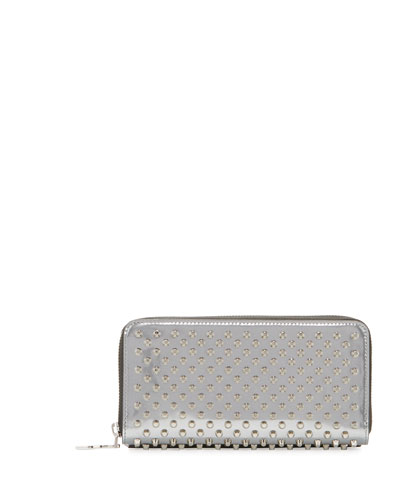 Panettone Spiked Zip Wallet, Silver