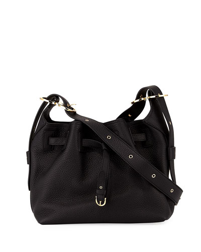 Small Pebbled Leather Bucket Bag