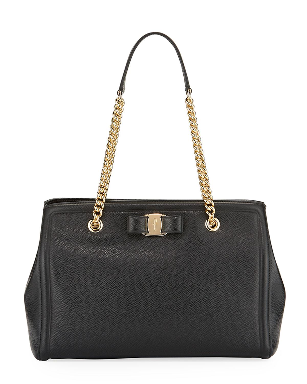 MeLike Vara Medium Tote Bag, Black