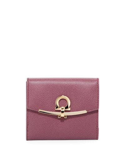 French Gancio Clip Wallet, Pink