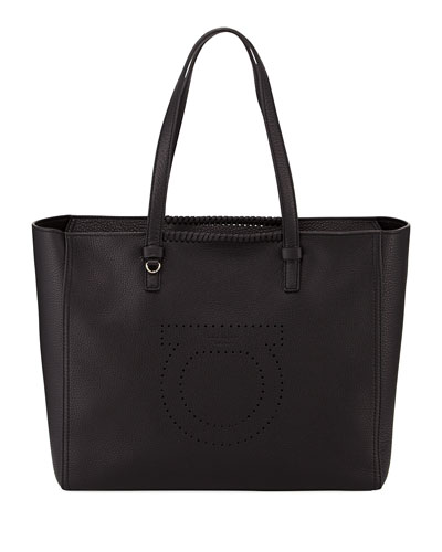 Marta Large Pebbled Leather Tote Bag