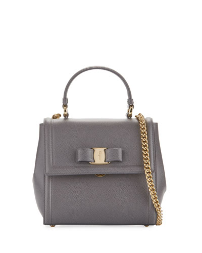 Carrie Vara Small Satchel Bag, Gray