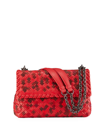 Olimpia Small Intrecciato 1/2-Flap Shoulder Bag