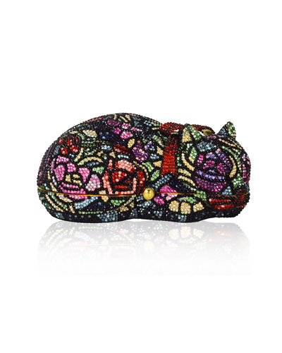 Sleeping Cat Rosie Crystal Minaudiere Clutch Bag