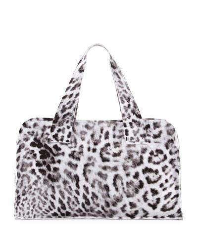 Animal-Print Rectangle Bag, White Pattern