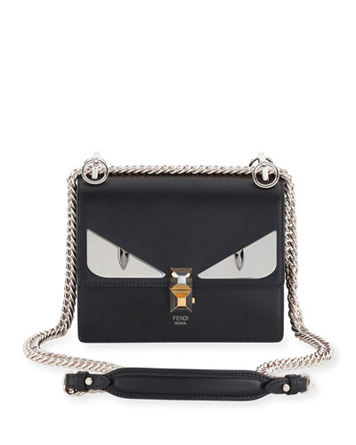 Kan I Monster Mini Leather Shoulder Bag, Black