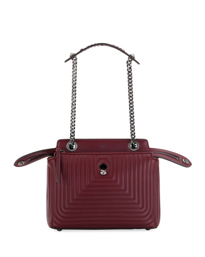 Dotcom Click Quilted Shoulder Bag, Red
