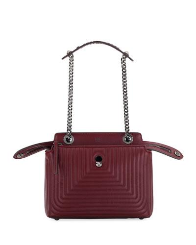 Dotcom Click Quilted Shoulder Bag, Red