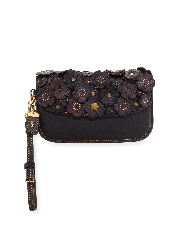 Small Tea Rose Clutch Bag