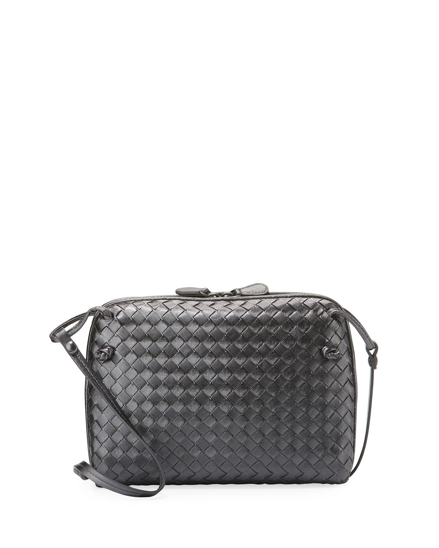 Veneta Small Woven Messenger Bag