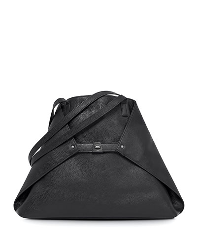 Ai Leather Tote Bag, Black