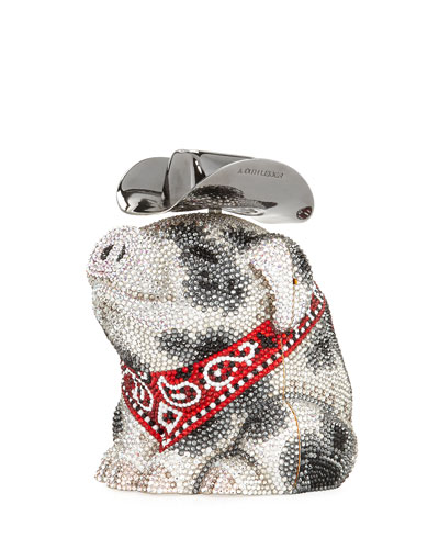 Hank Cowboy Pig Bag, White/Black