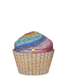 Cupcake Rainbow Clutch Bag, Multicolor
