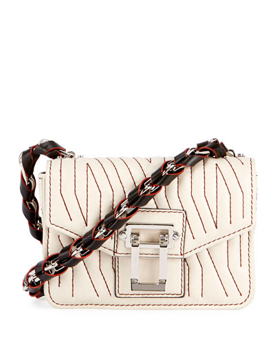 Hava Woven Crossbody Bag, Off White