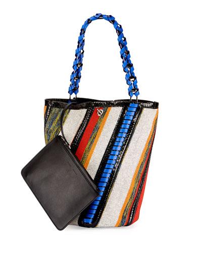 Hex Medium Bucket Bag, Multi