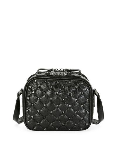 Valentino Garavani Valentino Rockstud Spike Crossbody Camera Bag, Black