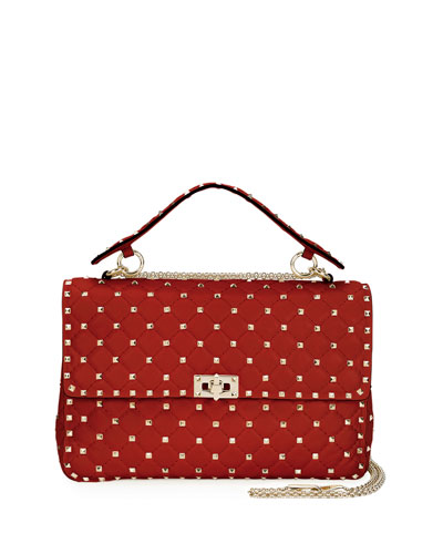 Rockstud Spike Large Quilted Shoulder Bag