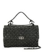Rockstud Spike Large Quilted Leather Shoulder Bag