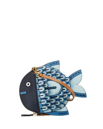 Fish Leather Crossbody Bag