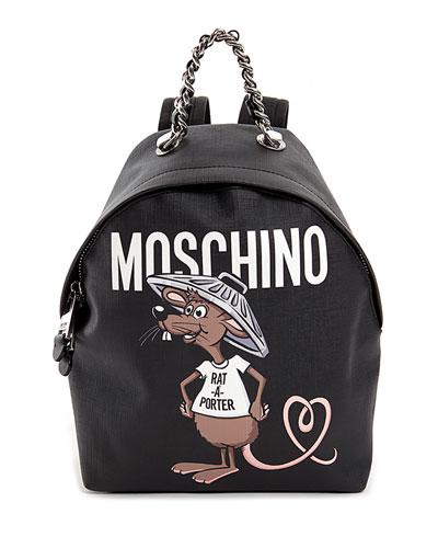 Rat-a-Porter Logo Backpack, Black