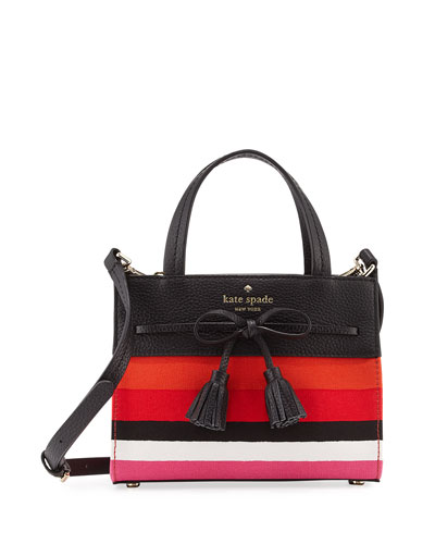 hayes street isobel mini striped bag, pink/multi