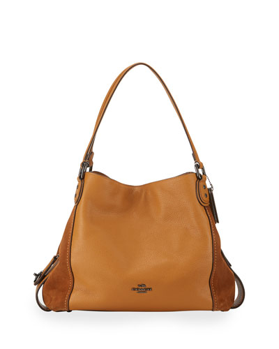 Edie 31 Leather Shoulder Bag, Caramel