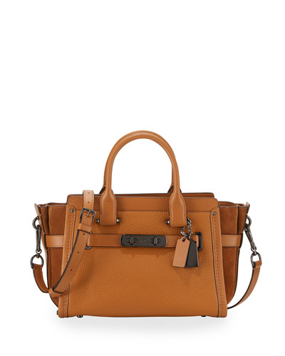 Swagger 27 Leather Satchel Bag, Caramel