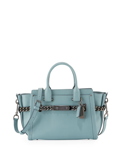 Swagger 27 Leather Satchel Bag, Cloud