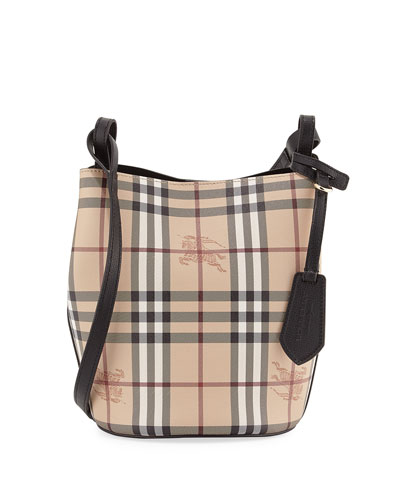 Lorne Haymarket Small Tote Bag, Black/Check