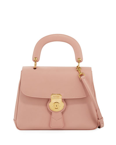 Trench Saffiano Top Handle Bag, Light Pink