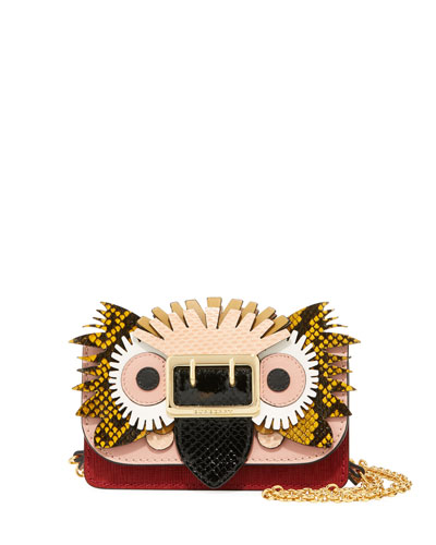 Mini Phone Crossbody Bag with Exotic Animal Applique