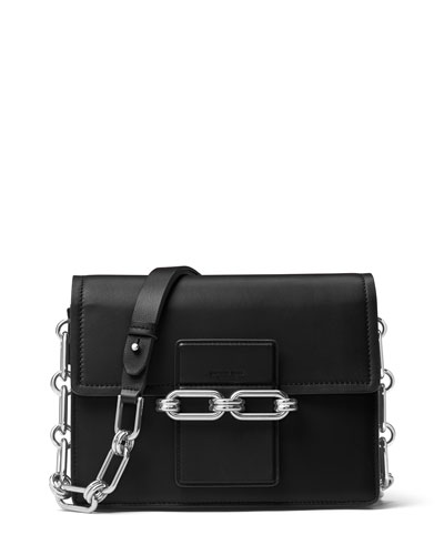 Cate Medium Chain Shoulder Bag, Black