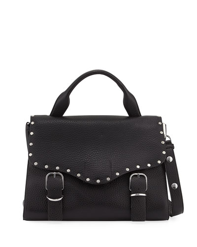 Biker Doctor Studded Bag, Black