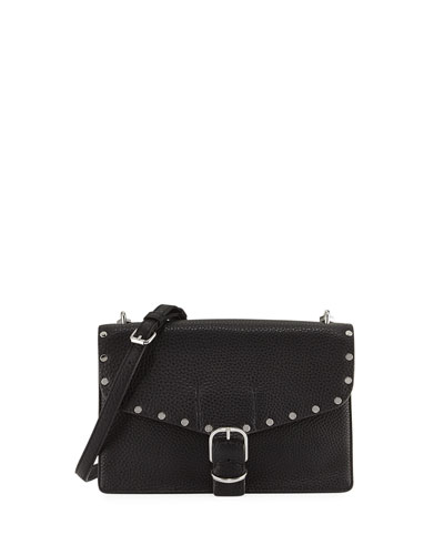 Medium Biker Crossbody Bag, Black