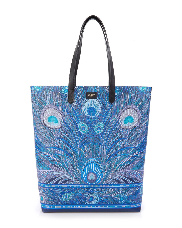 Hera Peacock Canvas Tote Bag