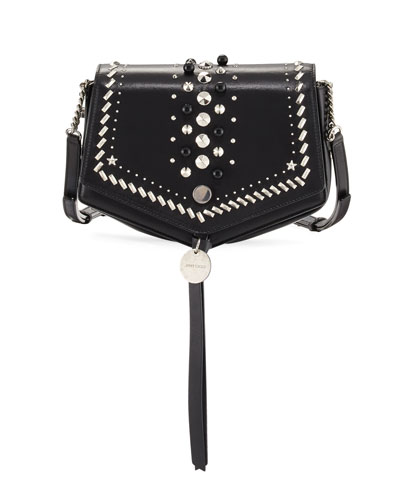 Arrow Embellished Leather Crossbody Bag