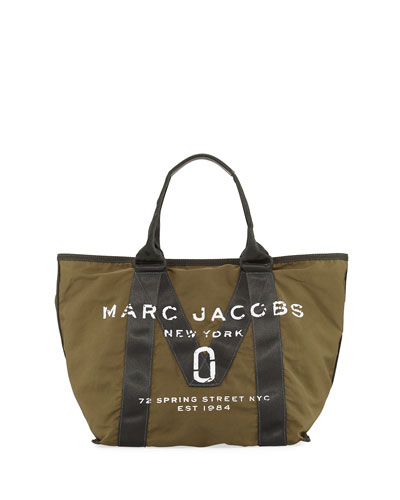 New Logo Fabric Tote Bag, Army Green