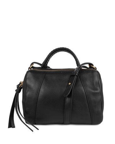 Turner Leather Micro Duffel Bag, Black