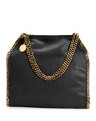 Falabella Shaggy Deer Small Tote Bag, Black