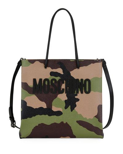 Camouflage-Print Tote Bag, Multi