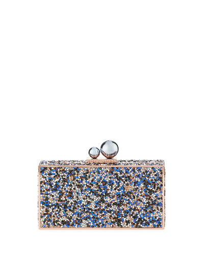 CLARA CRYSTAL BOX CLUTCH