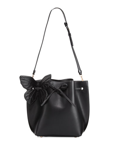 Remi Butterfly Leather Bucket Bag