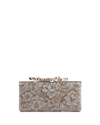 Celeste Love Lace Box Clutch Bag