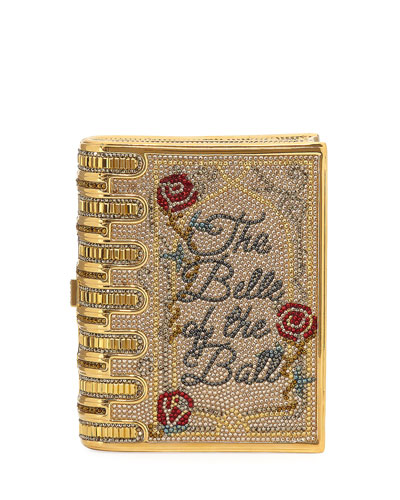 Disney's® Beauty and the Beast Book Clutch Bag, Gold