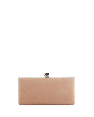 Celeste Suede Box Clutch Bag