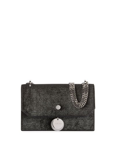 Finley Metallic Velvet Crossbody Clutch Bag