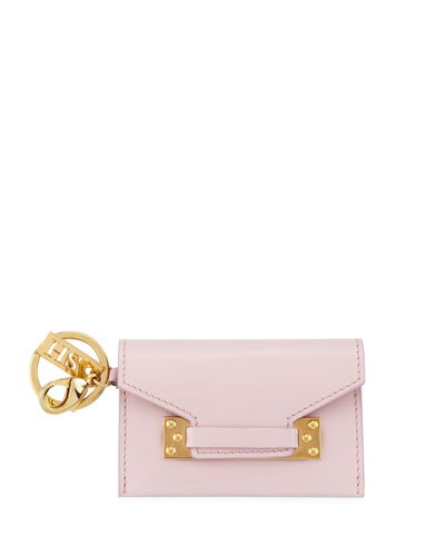 Milner Micro Envelope Clutch Bag, Light Pink