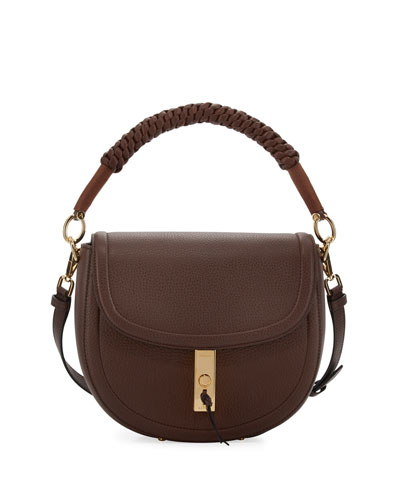 Braided Top-Handle Saddle Bag
